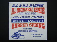 R.J. & D.J. HARPER ALL MECHANICAL REPAIRS 9 HYNES CRT MILDURA 212776 COASTER