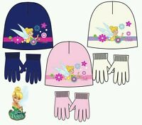 NEW LICENSED GIRLS FAIRIES, TINKERBELL KNITTED HAT WITH GLOVES SET, sizes 2-8 yr