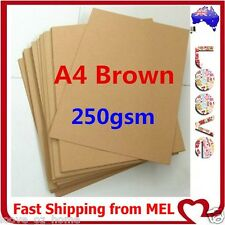 20x A4 250GSM Brown Kraft Thick Paper Sheet Natural Recycled Invitation Wedding