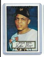 1952 Topps # 261 WILLIE MAYS ROOKIE REPRINT New York Giants Sharp LOOK !