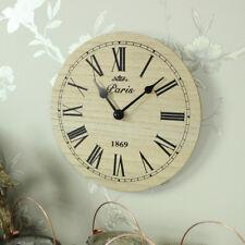 Vintage Small Wooden Wall Clock Paris 1869 Roman Numerals Kitchen Office 20cm