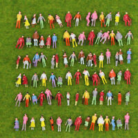 100PCS 1:150 Painted Figures Model Trains N scale Colorful People
