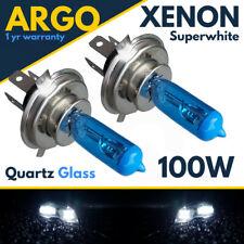 2x H4 Motorbike Headlight BUlbs 100w Super White Xenon Halogen Motorcycle 12v