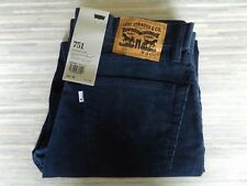 Levi Strauss & Co. 751 Standard Fit Jeans Style Stretchy Blue Cords W34 L30