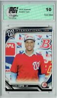 Juan Soto 2016 Bowman #II-JS International Ink Rookie Card PGI 10