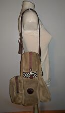 VINTAGE SUEDE PATRIA GAUCHA SHOULDER BAG HOBO COACHELLA BROWN HIPPIE HANDBAG