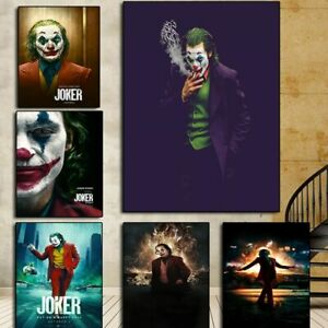 Famous Movie Joker Poster Painting Printed Figure Canvas Painting Cuadros Wall