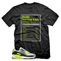 Hustle Facts T shirt For Nike Air Max 90 OG Volt, Black Mens & Womens T-shirt