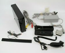 Nintendo Wii Console Black - Full Set Up with 1 Wii Controller & Nunchuck
