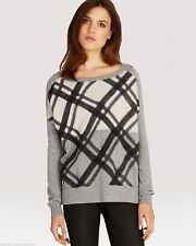 Karierte hüftlange Damen-Pullover