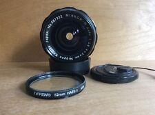 Nikon Nikkor N Auto 24mm 1:2.8 MF Non Ai Fixed Prime Lens + Caps And Filter EX!