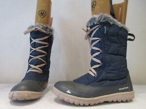 QUECHA WATERPROOF WALKING HIKING PULL ON LACE DETAIL BOOTS UK 4 EU 37 (3699)