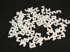 AURORA MODEL MOTORING ROADWAY LOCKS ~ WHITE PLASTIC ~ 100 PC ~ NEW REPRODUCTIONS