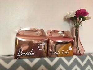 Rose Gold Personalised Hen Party Bag Wedding Gift Box Gift Favour Box