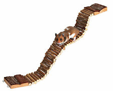Wooden Ladder for Hamster Mouse Gerbil Rat Flexible Ladder Bridge Toy 55cm