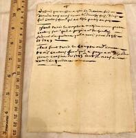 1749 Italian Document Government Legal Paper Record Authentic Manuscript Antique
