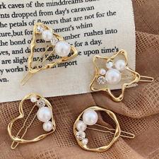 Fashion Women Crystal Pearl Hollow Hair Clip Barrette Hairpin Accessories Gift