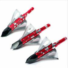 Archery Broadhead 100 Grain 3 Blade Arrow Head 3 PACK Hunting Points Tips Deer