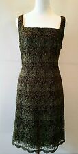 STEVEN MADDEN COCKTAIL KNEE LONG DRESS SIZE 14 MADE IN USA NEW