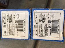 NEW Leviton 2311 L5-20P 3w 2P twist-lock locking plug 20A 125 volt 078477800942