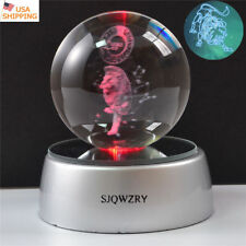 Leo Constellation 3D LED Crystal Ball Night Light Table lamp Christmas Gift RGB