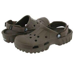 Crocs 10011 Off Road Chocolate/Chocolate Unisex Men's size 12, Women's size 14