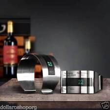 Termometro acciaio LCD per bottiglia di vino idea regalo sommelier temperatura