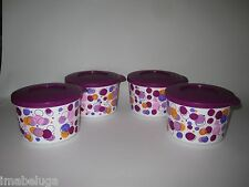 TUPPERWARE Stack Store Serve Locking Bowl Canister Party Poppin Dots Containers