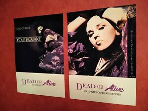 DEAD OR ALIVE A3 POSTER PRINTS SET YOUTHQUAKE YOU SPIN ME ROUND 2 SET PETE BURNS