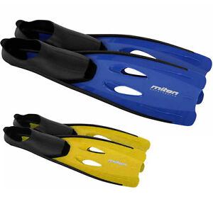 Miton Wave blau gelb Flossen Taucherflossen Schwimmflossen 30-47 in Doppelgrößen