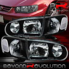 Jdm Black Headlights For 2001 2002 Toyota Corolla Clear Signal Lamps 01 02