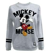 Mickey Mouse - Disney Vintage Damen Lizenz Pullover Sweater Grau (S-XL)