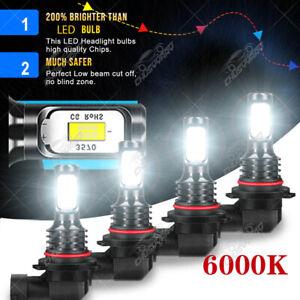 For Chevy C1500 1988-1999 4x 9005 & 9006 Combo LED Headlight Bulbs High Low Beam
