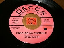 KENNY RANKIN - CINDY LOO - CATCH LOVE   / LISTEN -  TEEN JAZZ ROCK  POPCORN