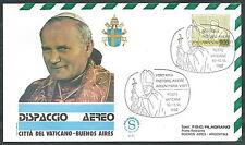 1982 VATICANO VIAGGI DEL PAPA DISPACCIO AEREO ARGENTINA BUENOS AYRES - SV