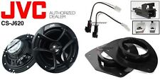 JVC CS-J620 6.5 Speakers + 1 Pair Front Adapters + Harness For GM