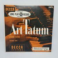 "ART TATUM - PIANO SOLOS, Volume One - 1947 DL-5086 VG+/NM Decca 10"" Long Play"