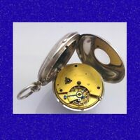 WW1 Officers Silver Fusee Aitchinson of Edinburgh  Half-Hunter Pocket Watch 1914