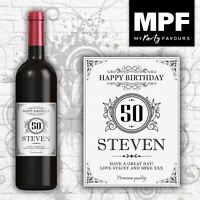 Personalised Birthday Wine Bottle Label - Any Name, Age & Message