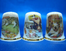 Birchcroft Thimbles -- Set of Three -- Quilting Pets