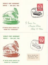 More details for hovercraft:1962 world's first hovercraft service-wallasey-rhyll-out and in cards