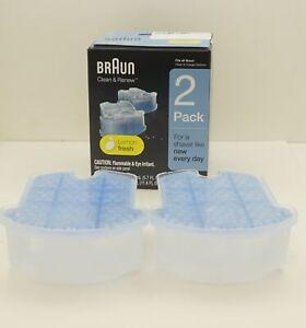 Braun Clean & Renew Refills, Lemon Fresh 2-Pack Clean & Charge, 81666447
