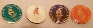 1996 Atlanta Olympic 4 Pin Set Logo Round Different