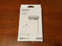 Sony WI-C310 Wireless Bluetooth Earbuds Neckband Headphones WHITE WIC310 #39 NEW