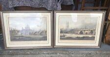 Two Very Large J C Stadler Etchings 19th C Framed, Glazed London Scenery