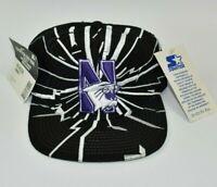 Northwestern Wildcats Vintage 90's Starter Shockwave NCAA Snapback Cap Hat