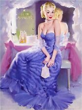 1940s Pin-Up Girl In the Dressing Room Picture Poster Print Art Pin Up