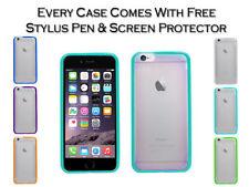 Étuis, housses et coques transparents simples en silicone, caoutchouc, gel pour téléphone mobile et assistant personnel (PDA) Apple