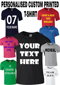 Personalised Custom Printed T-Shirt Your text logo stag do hen party unisex top