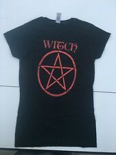 Witch pentacle t shirt witchcraft ladies soft style shirt SMALL size